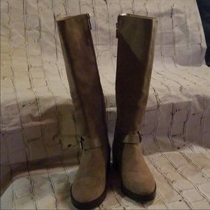 Zara tan knee high boots